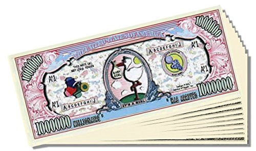 """It's a Girl"" Novelty Million Dollar Bill - 25 Count with Bonus Clear Protector & Christopher Columbus Bill"