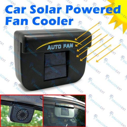 solar powered car auto cool air vent cooler cooling fan vehicles parts vehicle parts accessories. Black Bedroom Furniture Sets. Home Design Ideas