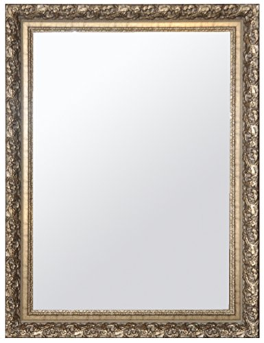 Raphael Rozen - Classic - Vintage - Hanging Framed Wall Mounted Mirror, Satin Gold, Carved Frame
