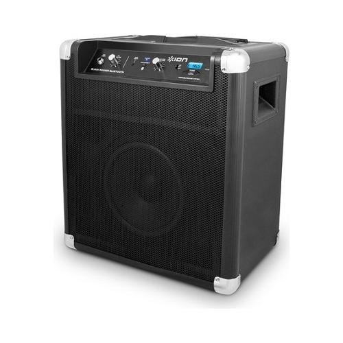 Ion Audio IPA56D Block Rocker Portable Bluetooth Speaker System With USB Charger And Wheels And