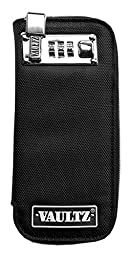 Vaultz Locking Soft Sided E-Cigarette Case, Small, 3.25 x 7.75 Inches, Black (VZ00738)