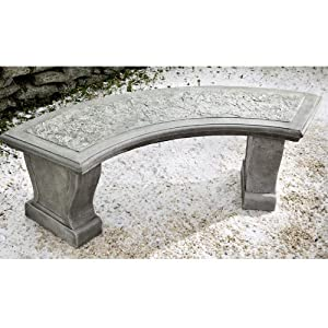 Amazon.com : Campania International Curved Leaf Cast Stone ...