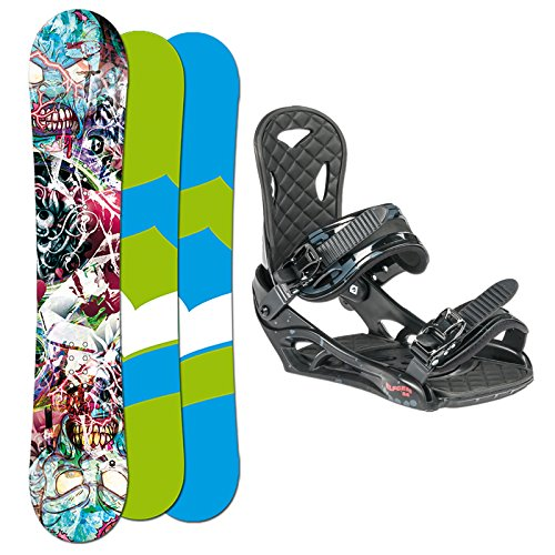 FTWO SET Snowboard T-RIDE 148cm + Eco Bindung Gr. L