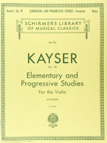 36 Elementary And Progressive Studies, Op. 20: Complete