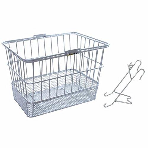 Sunlite Mesh-Bottom Lift Off Bicycle Basket, Silver