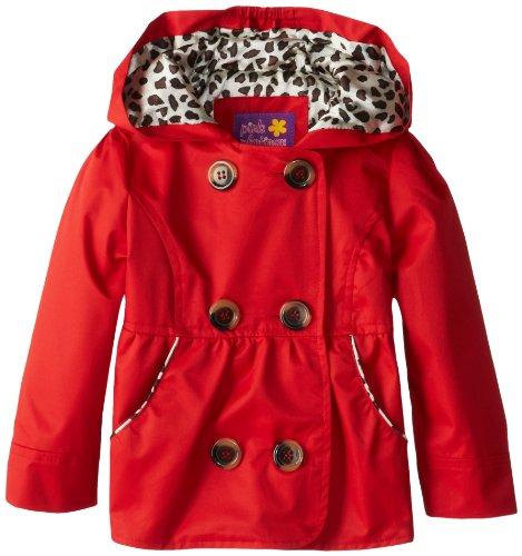 Детская верхняя одежда Pink Platinum Girls 2-6X Double Leopard Trench Rain Jacket