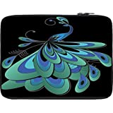 Snoogg Peacock Feather 10 To 10.6 Inch Laptop Netbook Notebook Slipcase Sleeve
