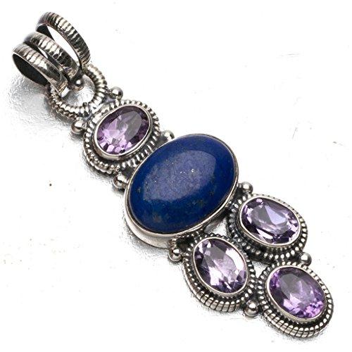 stargems-tm-naturelles-lapis-lazuli-et-amethyste-style-punk-argent-925-pendentif-en-argent-sterling-