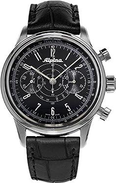Alpina 130 Men's AL-860G4H6 Heritage Pilot Chronograph Black Watch