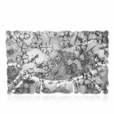 Wendell August Forge Dogwood Rectangular Tray, Medium By Wendell August Forge