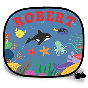 123t ANI-MATES UNDER THE SEA KILLER WHALE PARTY DESIGN PERSONALISED Sunshade x 2