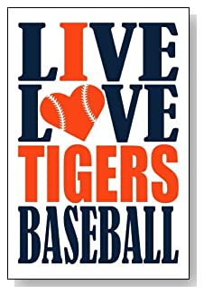 Live Love I Heart Tigers Baseball lined journal - any occasion gift idea for Detroit Tigers fans from WriteDrawDesign.com