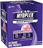 EAS Myoplex Lite Nutrition Shake, Strawberry Cream, Pack of 20