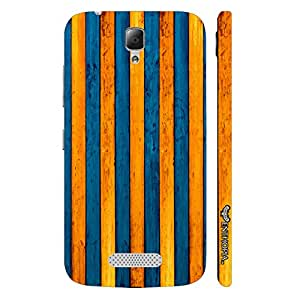 Lenovo A2010 Yellow To Blue designer mobile hard shell case by Enthopia