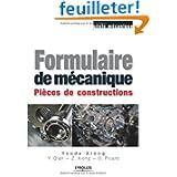 Formulaire de mécanique : Pièces de constructions