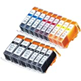 15 Pack Compatible Canon CLI-226 , PGI-225 3 Small Black, 3 Cyan, 3 Magenta, 3 Yellow, 3 Big Black for use with Canon PIXMA iP4820, PIXMA iP4920, PIXMA iX6520, PIXMA MG5120, PIXMA MG5220, PIXMA MG5320, PIXMA MG6120, PIXMA MG6220, PIXMA MG8120, PIXMA MG8120B, PIXMA MG8220, PIXMA MX712, PIXMA MX882, PIXMA MX892. Ink Cartridges for inkjet printers. CLI-526BK , CLI-526C , CLI-526M , CLI-526Y , PGI-525BK © Zulu Inks