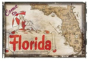 Come to Florida Art Print Art Poster Print, 19x13