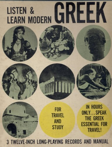 Listen & Learn Modern Greek (3 Record Box Lp Album Set W/Book)
