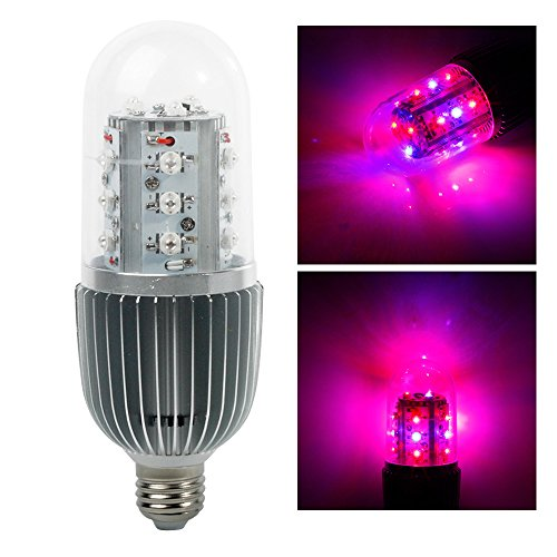 LVJING® 28W E27 Led Grow Light Bulb 360 Degree Lighting 12Red and 6Blue Led Lights for Plants in Garden Greenhouse Indoor Hydroponic System (Solar Heater For Greenhouse compare prices)