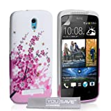 HTC Desire 500 Case Floral Bee Silicone Gel Cover