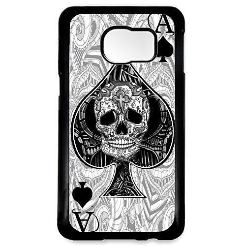 Cover per Samsung Galaxy S6 asso di picche biglietto arte del tatuaggio graphic design sugar skull custodia per giocare