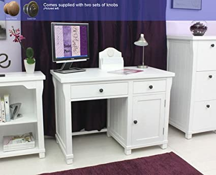 Mesa para ordenador de alfombras de individual Agen muebles blancos