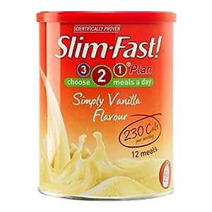 Slim-Fast Simplement Arôme Vanille Milk-Shake Poudre - 12