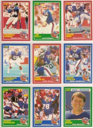 Buffalo Bills (5)+ Bonus Football Team Sets (1988 Topps Afc Eastern Champions) (1989 Score) (1990 Fleer Super Bowl) (1990 Topps Super Bowl) (1994 Bowman) Plus Bonus 1989 Topps Traded Team Set With Tasker, Reich & Beebe Rookies) (Thurman Thomas Rookie)(Cor front-614659