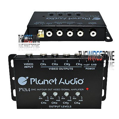 Planet Audio Pva4 1-Channel Input And 4-Channel Output Video Signal Amplifier