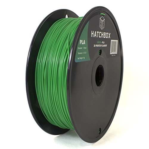 HATCHBOX 1.75mm Green PLA 3D Printer Filament - 1kg Spool (2.2 lbs)