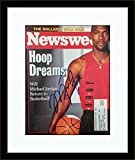 Framed Michael Jordan Autographed Magazine Cover with Certificate of Authenticity