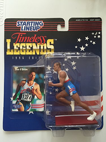 DAN O'BRIEN / USA OLYMPIC TRACK AND FIELD * 1996 TIMELESS LEGENDS Kenner Starting Lineup & Exclusive Collector Trading Card