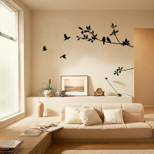 Meco(Tm) Diy Tree And Bird Removable Wall Art Sticker Vinyl Decal Mural Home Decor Pvc front-433132