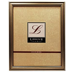 Lawrence Frames Antique Silver Wood 8x10 Picture Frame - Classic Design
