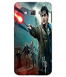 EU4IA Harry Potter And His Magic Wand With Friends Pattern MATTE FINISH 3D Back Cover Case For SAMSUNG GALAXY A7 - D160