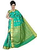 Emboss Design Poly Silk Rich Pallu Saree with Embellished Stone