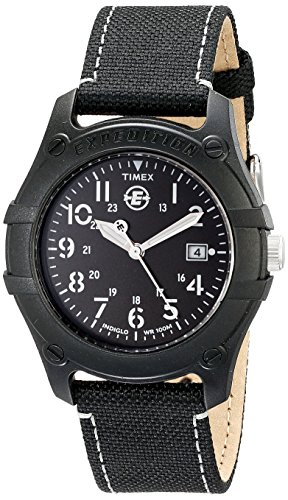 Timex Men's T49689 Expedition Camper Black Nylon Strap Watch