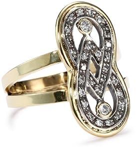 "Moritz Glik ""Kaleidoscope"" 18K Gold and Pave Diamond Infinity Ring, Size 7 from Moritz Glik"