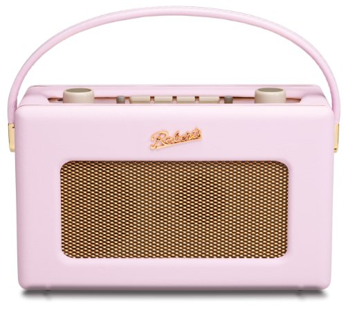 Roberts RD60 Revival DAB/FM RDS Digital Radio with Up to 120 Hours Battery Life - Pastel Pink