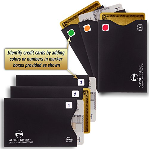 08. 5 RFID Blocking Sleeves (12 Credit Card Holders & 3 Passport Protectors) Ultimate Premium Identity Theft Protection Sleeve Set for Men & Women.