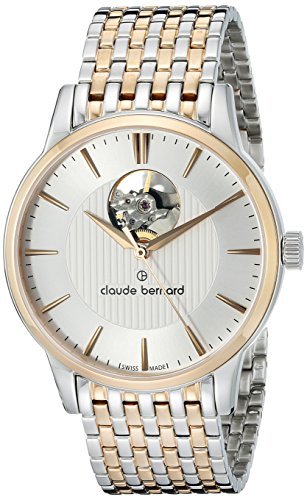 Claude-Bernard-Mens-85017-357RM-AIR-Automatic-Open-Heart-Analog-Display-Swiss-Automatic-Two-Tone-Watch
