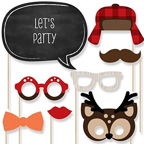 Woodland Creatures - Photo Booth Props Kit - 20 Count