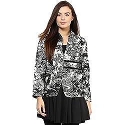 RARE Black Geometric Print Full Sleeve Women's Jacket