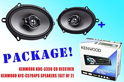 Package ! Kenwood Kdc-335U Cd-Receiver + Kenwood Kfc-C5794Ps Car Speakers