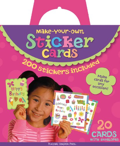 Peaceable Kingdom / Make Your Own Sticker Cards Kit front-650277