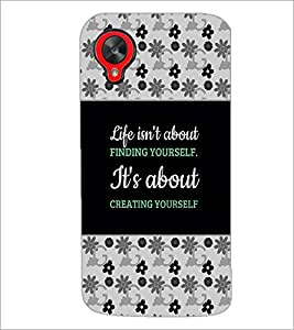 PrintDhaba Quote D-4668 Back Case Cover for LG GOOGLE NEXUS 5 (Multi-Coloured)