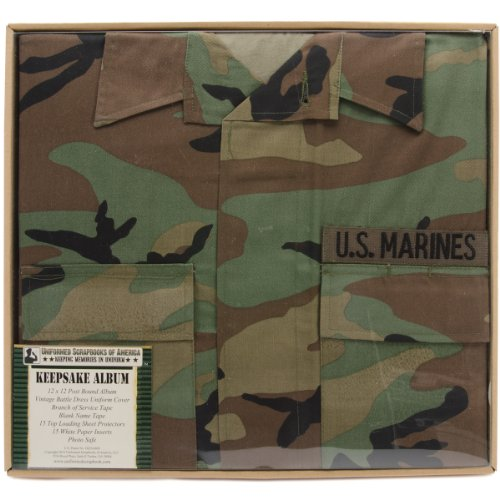 Uniformed U.S. Marine Battle Dress Uniform Keepsake Album
