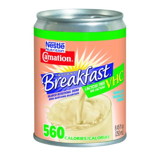 Nestle Carnation Instant Breakfast VHC Lactose Free Case of 24/vanilla