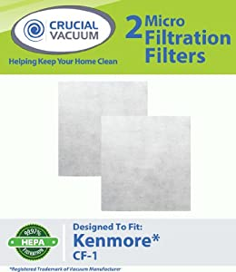 Crucial Vacuum 2 Kenmore CF1 Micro Filtration CF1 Filters Fit Sears Progressive Allergen Foam Filters; Fits Kenmore Progressive & Whispertone; at Sears.com