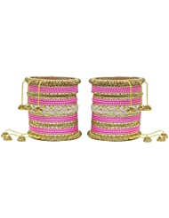 MUCH MORE Ethnic Collection Charming Bangles With Zircons Made Kada For Women Wedding Jewelry - B01KVMTPVQ